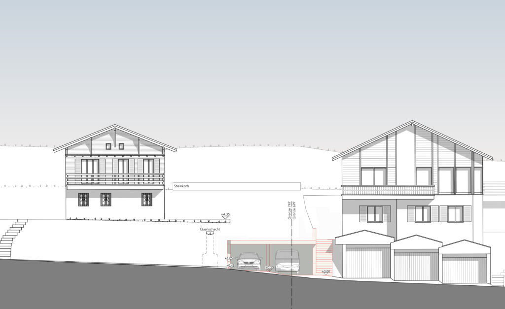 Garagen Neubau in Emmetten